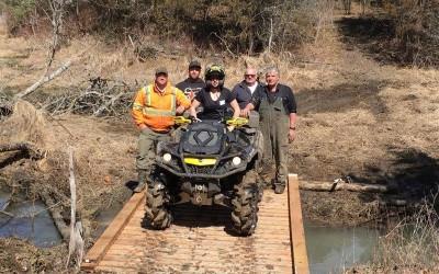 April 2, 2016 – Trail Work & New Bridge
